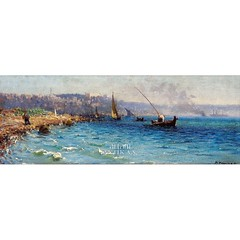 18076--fausto-zonaro-1854-1929-istanbul-bogazi (skaradogan) Tags: