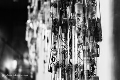Bunched (jenelle.melchior) Tags: glass tacoma museum black white monochrome test tube abstract art bokah