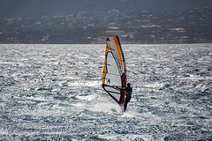 Surfing the Silver Sea (Rudi Pauwels) Tags: france frankrike cotedazur saintraphael surfing windsurfing glitter sea mediteranean 18270mm tamron tamron18270mm nikon d7100 nikond7100