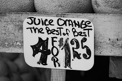 Best of Best (taddzilla) Tags: orange juice sign fruitsale writing board photowalk bw blackandwhite canon7d sale fruitstand produce miami florida 2012 allrightsreserved