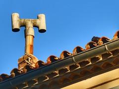 Chimney (sander_sloots) Tags: toulon rooftop chimney blue sky var dak schoorsteen pijp dakpannen tiles roof pipe dakgoot