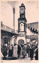 Casablanca - La Tour de l'Horloge (pepandtim) Tags: postcard old early nostalgia nostalgic casablanca clocktower tour horloge photo flandrin rue liberte 22cas92