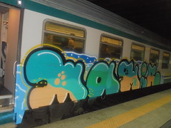 303 (en-ri) Tags: mamir azzurro rosa verde train torino graffiti writing