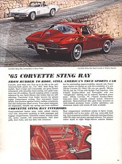 Pages from a 1965 Chevrolet full line brochure (Hugo-90) Tags: 1965 chevrolet car auto automobile ads advertising brochure corvette