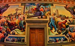 Jefferson City  Missouri ~ State Capitol  ~  The House Lounge - Mural (Onasill ~ Bill Badzo - 56 Million Views - Thank Yo) Tags: jeffersoncity mo missouri bento room lodge murals houselounge public art tour state capitol thomashartbenton bentonroom benton visitors attraction history travel vacation house onasill building indoor architecture mural painting governors reception guided self attractionsite vintage old photo slaves song city jefferson people