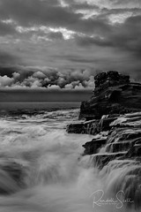 Storm Brewing (#Photography By Randall) Tags: stormyweather shoreline ocean landscape monochrome blackwhite storm sky oahu surf seascape clouds hawaii photographybyrandall lanailookout