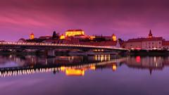 Ptuj at dusk (ales.simonic75) Tags: ptuj slovenia fuji xt20 fujifilm xf 1855 sunset dusk reflections bridge sky