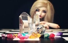 Dolltober Day 14 : Crystals. (Chantepierre) Tags: bjd balljointeddoll balljointed doll fairyland minifee minifée ria fc fullcusto full custo custom chantepierre ladicius dolltober2018 dolltober 2018