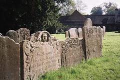 18th Century gravestones (knautia) Tags: graveyard stmaryschurch henburyparishchurch henbury bristol england uk october 2018 film ishootfilm olympus xa2 olympusxa2 kodak kodacolor 200iso nxa2roll91 churchyard gravestone