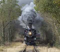 Storming eastbound (whiteja95) Tags: steam reading northern trains train passenger excursion smoke pennsylvania