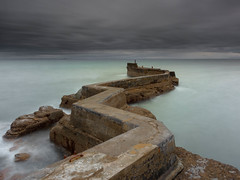 St Monans Breakwater (burnsmeisterj) Tags: olympus omd em1 stmonans breakwater sea clouds water