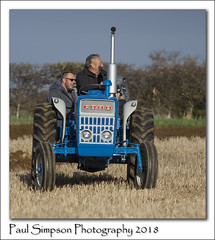 Three Generations of Farmers (Paul Simpson Photography) Tags: paulsimpsonphotography imagesof tractor ford3000 sonya77 imageof photosof photoof farmers farming farm field october2018 autumn ploughing lincolnshire family bluetractor bluesky ford transport england