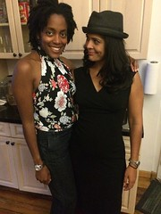 Khama and Simi (olive witch) Tags: 2015 abeerhoque day fem hat indoors nyc pair sep15 september