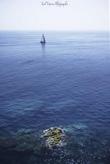 Blue... (freuddy) Tags: blue sea boat mediterranean seascape spain costa brava
