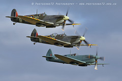 7448 Spitfires (photozone72) Tags: aviation airshows aircraft airshow canon canon7dmk2 canon100400f4556lii 7dmk2 warbirds wwii spitfire duxford iwmduxford
