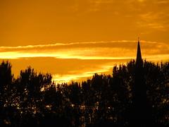 InSpireing Sunset (Gary Chatterton 4 million Views) Tags: church spire inspireing sunset sun clouds evening trees nature light orangesky perfectlight sunshine flickr explore photography canonpowershot