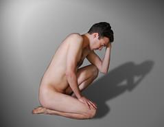 Shadows - Ombres (Iwokrama) Tags: affinityphoto homme jeunehomme shirtless male malemodel modèlemasculin portrait corps pose beauté photomanipulation physique personne composition chest torse éclairage ombre