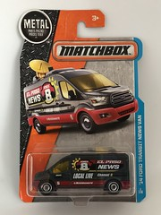 Mattel Matchbox - MBX Adventure City  - Number 2 / 125  - '14 Ford Transit News Van -  Miniature Diecast Metal Scale Model Vehicle (firehouse.ie) Tags: fordtransits mbx 2014transit toys toy televisionnews elpasonews elpaso fourgons fourgon vans van outsidebroadcast obu fordtransit transits transit fords ford fore miniatures miniature models model matchbox mattel