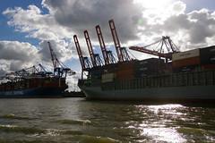 dicke Pötte (Frank S (aka Knarfs1)) Tags: hafen harbour hamburg ship schiff sea see meer port germany deutschland
