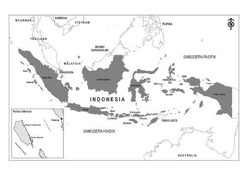 Peta Indonesia Gambar Peta Indonesia Warna Hitam Putih