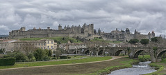 Days gone by (David Feuerhelm) Tags: nikkor city citadel walls towers river bridge old historic history carcassons france clouds nikon d7100 1685mmf3556 castle wideangle panorama