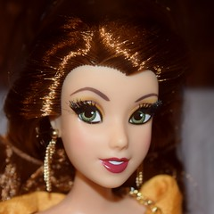 2018 Disney Designer Collection Premiere Series - Merchandise In Store Release - 2018-09-28 - Belle Doll - Opened Box - Closeup Front View (drj1828) Tags: disneystore disneydesignercollection premiereseries promo storedisplay 2018 merchandise colourpop doll limitededition belle 12inch beautyandthebeast