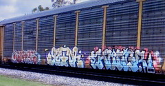 (timetomakethepasta) Tags: toboe gator hungr freight train graffiti art ns autorack norfolk southern nr lsd btr