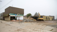 Block Demo (Lester Public Library) Tags: suettingerhardwaredemolition demolition construction demo tworiverswisconsin tworivers downtown downtowntworivers debris equipment buildings wisconsin lesterpubliclibrarytworiverswisconsin readdiscoverconnectenrich