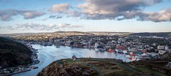 Good Morning ... (vanessa violet) Tags: hike home stjohn's city signalhill harbour cityscape 6cityscapepanorama panorama 52in2018 2018 52in2018challange sku ocean sea boat rock water