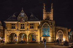 Cathedral Square at night.jpg (uplandswolf) Tags: peterborough cambs cambridgeshire guildhall church cathedralsquare stjohnschurch