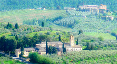 View from San Gimignano (kate willmer) Tags: building landscape green houses sangimignano tuscany italy