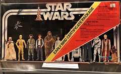Very rare Early Bird packaging for figures from A New Hope at #MayTheToysBeWithYou, Torquay Museum 19.08.17 (Trevor Bruford) Tags: star wars toy figure exhibition torquay museum maythetoysbewithyou