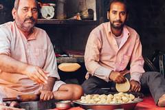 Men Making Roti Dough, Baldeo India (AdamCohn) Tags: 013kmtobaldevinuttarpradeshindia adamcohn baldeo baldev india uttarpradesh dough geo:lat=27407964 geo:lon=77822270 geotagged holi portrait roti street streetphotography wwwadamcohncom