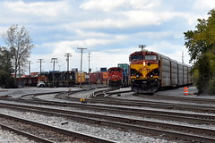 Busy times in Homewood (Robby Gragg) Tags: kcs es44ac 4742 cn sd70ace 8103 ic sd70 1036 homewood