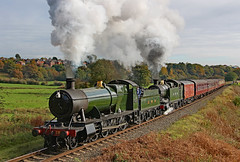 Great Western Double (gareth46233) Tags: 2857 4270 burrs elr east lancs lancashire railway great western gwr double green