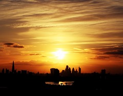 London at Sunset (Waterford_Man) Tags: london sunset sky city england