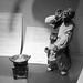 Pottery figurines: Dumpling street hawker