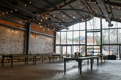 The main seating area of the brewery.
