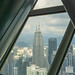 View of Petronas Twin Towers from KL Tower Observation Deck in Kuala Lumpur