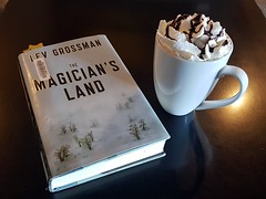 A quiet cafe to read... (canadianlookin) Tags: book coffee mocha reading read