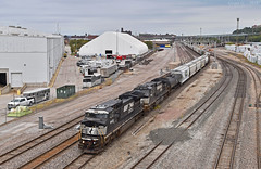 """Southbound Manifest in Kansas City, MO (""""Righteous"""" Grant G.) Tags: ns norfolk southern railway railroad locomotive train trains south southbound ge power kansas city missouri engine freight manifest"""