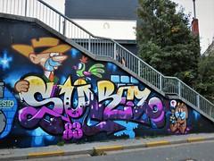 Suarez & Bué the Warrior / Ter Platen - 6 okt 2018 (Ferdinand 'Ferre' Feys) Tags: gent ghent gand belgium belgique belgië streetart artdelarue graffitiart graffiti graff urbanart urbanarte arteurbano ferdinandfeys bue buéthewarrior bué