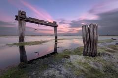 Sunset at tha old explosives wharf (Gary Eastwood) Tags: seascape jettyruins jetty sunset longexposure nisifilters nikon nikond750 cloudsstormssunsetssunrises clouds