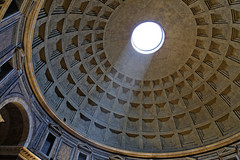 The Pantheon (will668) Tags: thepantheon rome italy eu europe travel tourism holiday arches columns architecture history dome roman art templeofthegods corinthian portico cella raphael statues carvings shadow light marble