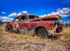 Patina Pontiac in Thompson Utah (Daveyal_photostream) Tags: nikon nikor nature d850 utah clouds bluesky car pontiac meandmygear mygearandme mycamerabag hdr brokenwindows cardoor wheels tires patina tallgrass carhood colorful classic antiquecar classiccar abandoned rustporn rusty vibrant