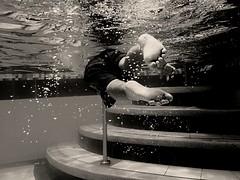 Simón in the water (Alejo Martínez) Tags: agua niño blancoynegro