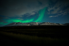 Aurora Borealis Over Fornastaðafjall (Christoph Wenzel) Tags: nacht aurora manuell herbst sonyalpha6000 urlaub island samyang12mmf20 grün natur landschaft þingeyjarsveit norðurlandeystra is auroraborealis polarlichter astro