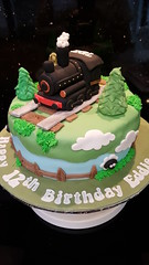 Steam Train cake (Victorious_Sponge) Tags: steam train cake happy birthday railway boys green black