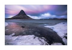 Two Ends: Kirkjufell Dawn (W.Utsch) Tags: iceland kirkjufell ice landscape dawn light color