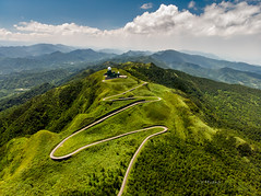 Winding road (canon-Tom) Tags: road landscape sun sunrise sunlight light travel air mountains clouds tree green sky city nature taiwan dji mavic